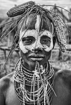 A woman of the Karo tribe (Omo Valley-Ethiopia).