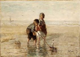 Children Playing By The Seaside