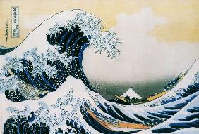 The great wave - End of the series of the 36 views of the Fudschijama