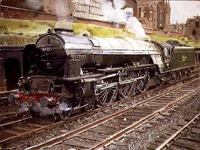A1 Majesty, Osprey 60131 at Camden MPD, London (oil on canvas)