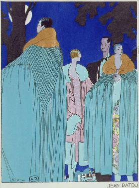 Outdoor Evening Dress, fashion plate from Art Gout Beaute magazine, February 1926 (colour litho)