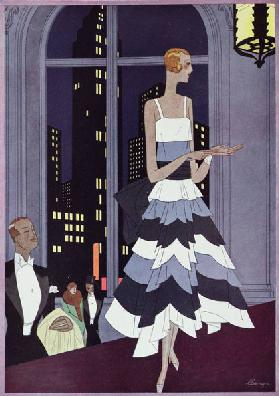 Under the Eyes of New York Skyscrapers, fashion plate form Femina magazine
