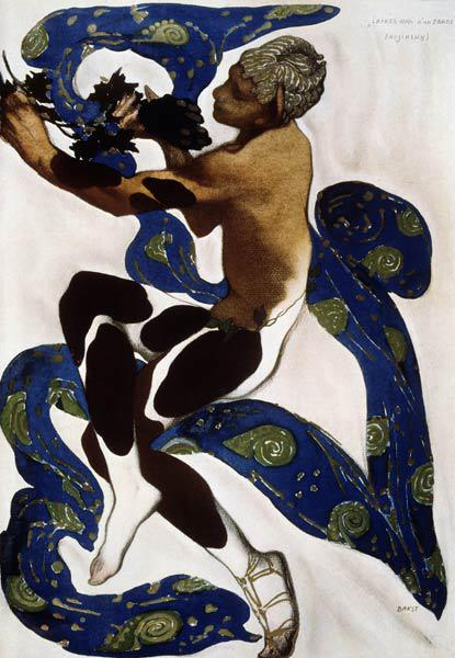 Faun. Costume design for the ballet The Afternoon of a Faun by C. Debussy