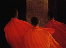 Four Monks (oil on canvas)