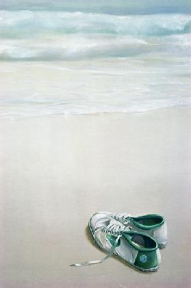 Gym Shoes on Beach