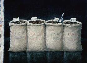 Coffee Sacks, 1990 (w/c on paper)