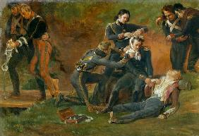 Baron Jean Dominique Larrey (1766-1843) Tending the Wounded at the Battle of Moscow