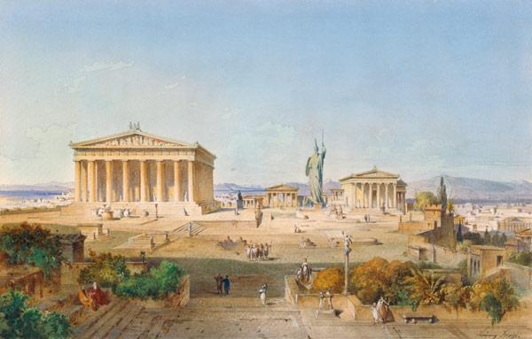 The Akropolis in Athens in the time of Perikles 444 V . Chr