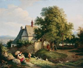 The church at Graupen in Bohemia