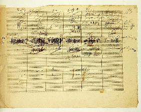 Wellington''s Victory, Op. 91'', page 36, composed Ludwig van Beethoven (1770-1827)