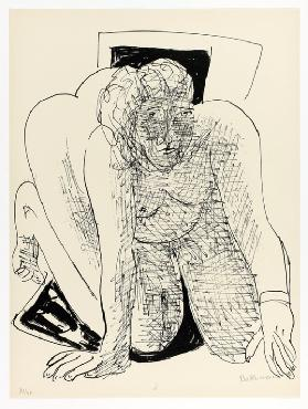 Crawling Woman, plate five from Day and Dream