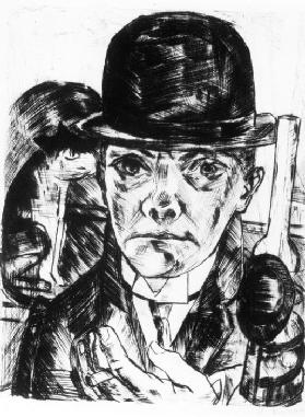 Self-portrait with Bowler Hat