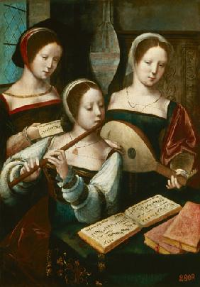 Women playing instruments
