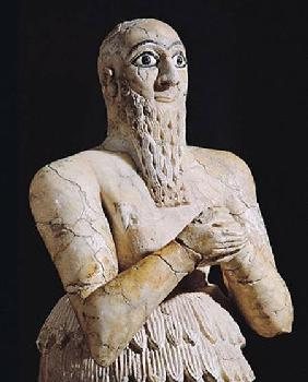 Detail of a statue of Itur-Shamagen, King of Mari, at prayer, from Mari, Middle Euphrates