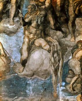 Sistine Chapel Ceiling: The Last Judgement, detail of St. Bartholomew holding his flayed skin