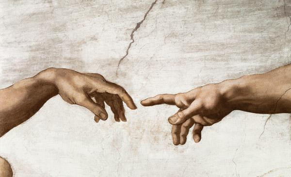 The Creation of Adam, Creation of Man (detail) 1510