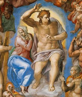 (the Last Judgement -- Christ and Maria part a Sistine chapel) 1537-41