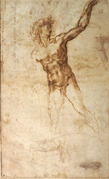Sketch of a Nude Man (W. 4 recto)