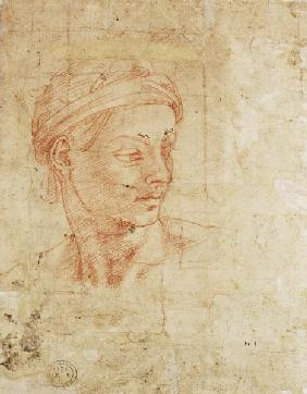 Study of a Head (red chalk) Inv.1926/10/9/1 (W.11)