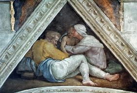 Sistine Chapel Ceiling: The Ancestors of Christ (pre restoration)