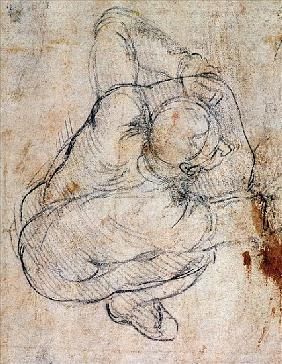 Study for the Last Judgement (for verso see 191772)
