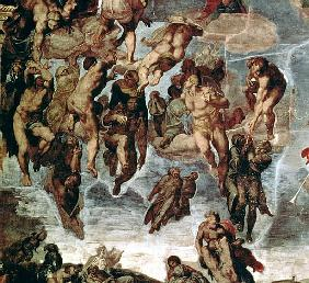 The Righteous Drawn up to Heaven, detail from ''The Last Judgement'', in the Sistine Chapel, c.1508-
