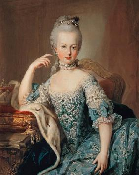 Archduchess Marie Antoinette Habsburg-Lotharingen (1755-93), fifteenth child of Empress Maria Theres 1767-68