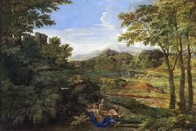 Landscape with two Nymphs and a Snake