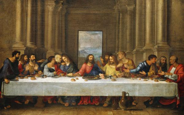 The last Holy Communion. Copy to Leonardo da Vinci.
