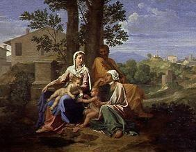 The Holy Family with the Johannesknaben and St. Elisabeth.