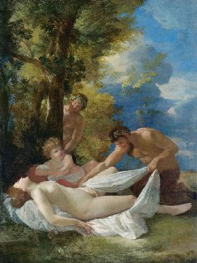 Nymph with Satyrs