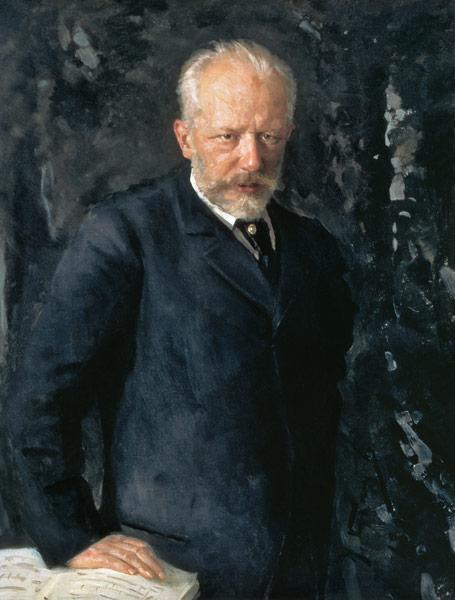 Portrait of Piotr Ilyich Tchaikovsky (1840-93), Russian composer