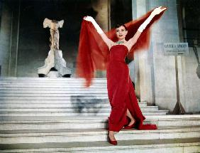Audrey Hepburn on the Steps of the Louvre, in the film 'Funny Face'