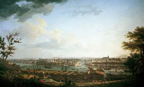 Bayonne, View / Painting by J. Vernet