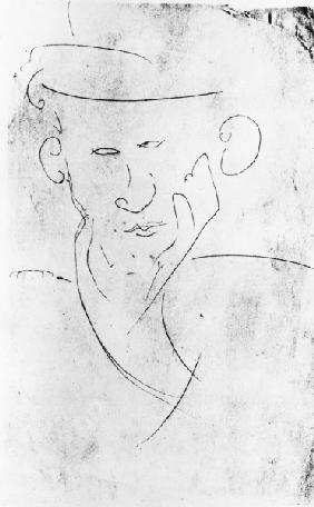 Blaise Cendrars / Drawing by Modigliani