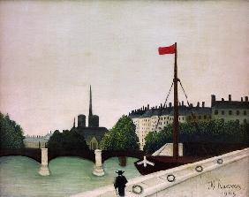 H.Rousseau / View of the Ile Saint-Louis