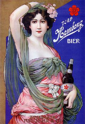 Japan: Advertising poster for Kembang Beer