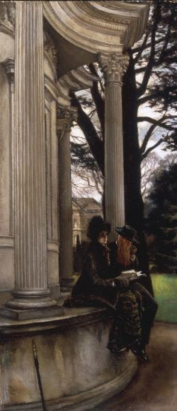 J.Tissot, Kew Gardens, Oil on Canvas