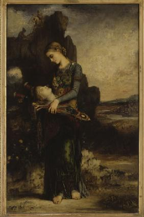 Moreau / Girl carrying Orpheus  Head