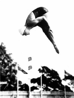 Pat Mc Cormick the first diver to win back-to-back Olympic gold medals in platform and springboard d