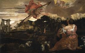 P.Veronese, Moses and the burning bush