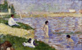 Seurat, Study for Swimming at Asnières