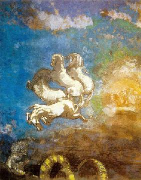 The chariot of Apollo, pastel by Odilon Redon, coll. musee d'Orsay-Paris