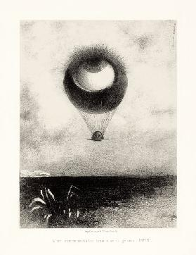 The Eye, Like a Strange Balloon, Mounts toward Infinity. Series: For Edgar Poe