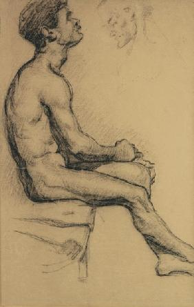 Nude study of a black man