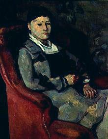 The wife of the artist in the armchair