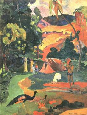 Landscape with peacocks (Metamoe)