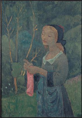 Girl with a Pink Stocking