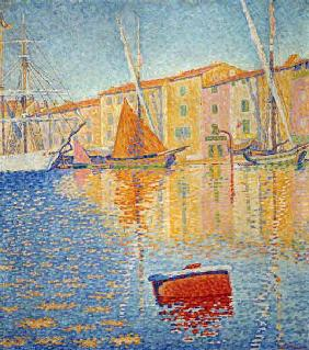 The Red Buoy, Saint Tropez, 1895 (oil on canvas)