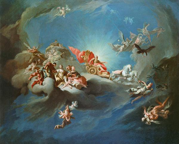 The Apotheosis of the Emperor Charles VI (1685-1740) in the guise of Apollo